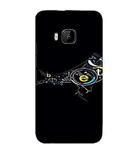 PrintVisa Modern Art Bird Design 3D Hard Polycarbonate Designer Back Case Cover for HTC One M9