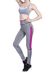 Leggings Delgado Elástica Pantalones Lápiz para Mujer Rose L