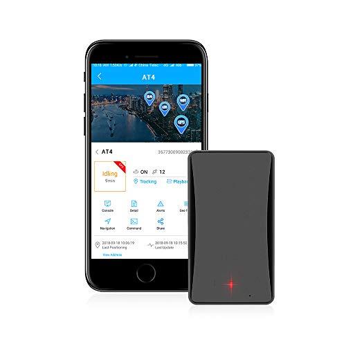 Jueapu TR370 Echtzeit-GPS-Tracker für Fahrzeuge und Persönliche mit 1 Jahr Datenplan, ohne Abonnierung/Monatliche Gebühren