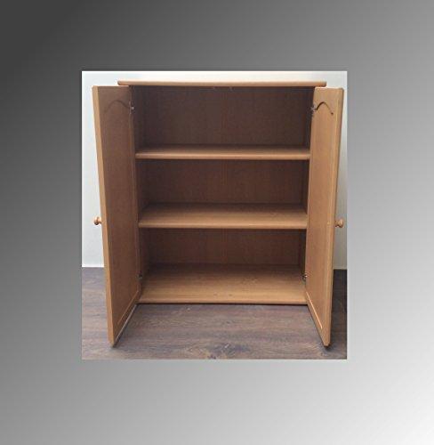 Kommode Regal Sideboard Wohnwand Erle Front Massiv Schublade Flurmöbel Wohnmöbel (Kommode 2 Türen M-1301) - 2