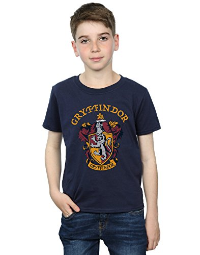Harry Potter Jungen Gryffindor Crest T-Shirt Navy Blau 12-13 Years
