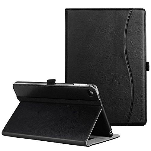 Ztotop Hülle für iPad Mini 4,Premium PU Kunstleder Business dünn Leichte Ständer smart Case Cover für Apple 2015 iPad Mini 4,mit Auto Schlaf/Wach Funktion und Steckplatz,Mehrfachwinkel,Schwarz -