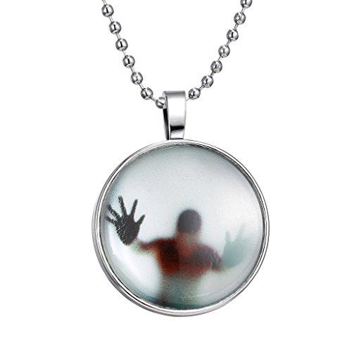Jiayiqi Frauen Gruselige Teufel Schatten Noctilucence Zeit Edelstein Anhänger Perlen Kette (Schatten Kostüme)