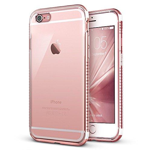 iPhone 6 / 6S Hülle (4,7 Zoll), ESR® Hybrid Schutzhülle, Metallrahmen + Weiche Silikon Bumper Case Hülle für iPhone 6/6S (Rosygold) Rosygold