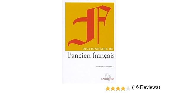 Amazon.fr - Dictionnaire de l\'ancien français - Algirdas Julien ...