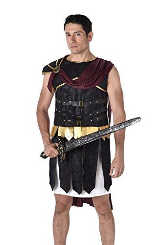 Karnival 82062 - Kostüm römischer Soldat, Herren, mehrfarbig, L (Deluxe Caesar Kostüm)