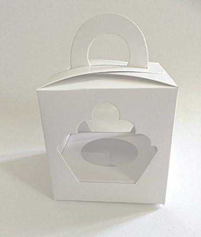 25 Stk Cupcake Muffin single Box 1er Aufbewahrungsbox Geschenkbox Karton Verpackung inkl. Einlage (Single Cupcake Box)