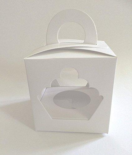 25 Stk Cupcake Muffin single Box 1er Aufbewahrungsbox Geschenkbox Karton Verpackung inkl. Einlage