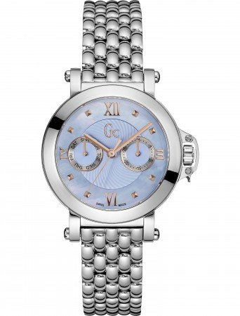 Guess Collection x40003l7s- Ladies Watch, Steel, Sapphire Glass, 10 ATM, Steel Strap Blue MOP