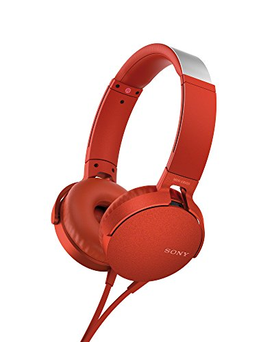 Sony MDR-XB550AP Casque avec EXTRABASS Rouge