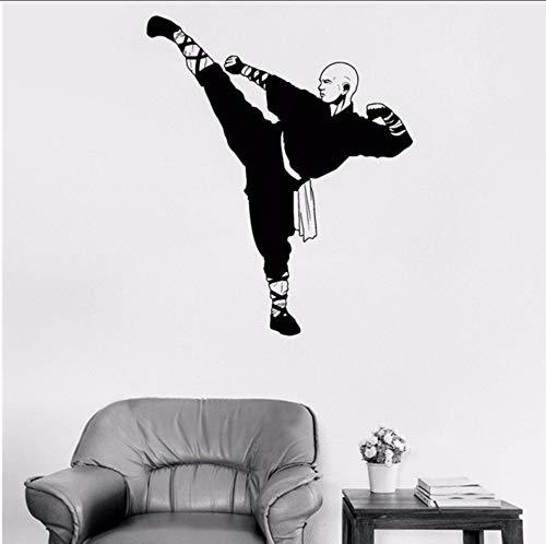eber Chinesischen Kongfu Shaolin Mönch Vinyl Wandtattoo Krieger Asiatische Kunst Aufkleber Wandbild Livnig Rooom Boy Schlafzimmer ()