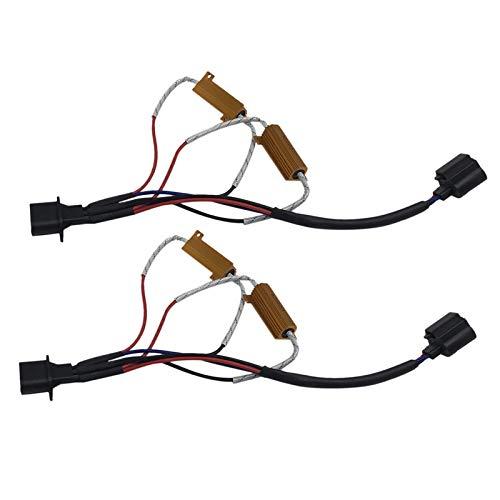 TOOGOO 2 Stücke H13 9008 Led Widerstand Kit Relais Kabelbaum Adapter Anti Flicker Fehler Decoder (9008 H13-stecker)