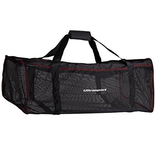 Ultrasport Tauchtasche, schwarz, 70 Liter Fassungsvermögen, leichte Netztasche zum Tauchen mit Reißverschluss, platzsparend zusammenrollbar