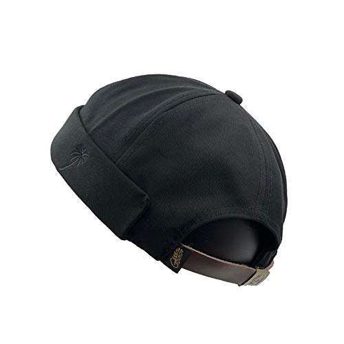 YAMEE Docker-Cap Docker Mütze Seemannsmütze Hafenmütze Bikercap Basecap ganzjährig Tragbar Hat Brimless Hat Rolled Cuff Harbour Hat