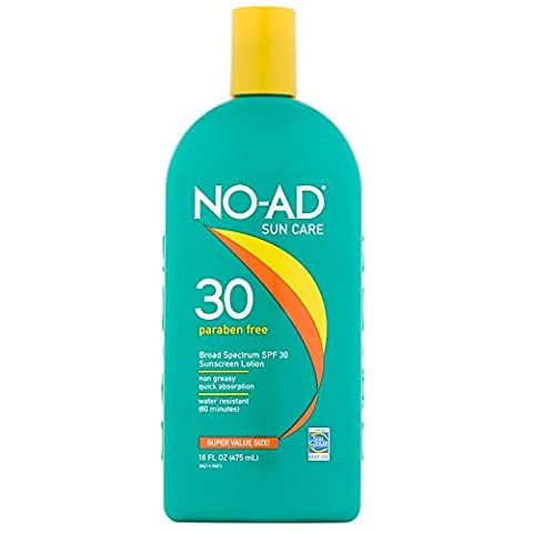 No-Ad Spf#30 Sunscreen Lotion 16oz (3 Pack)