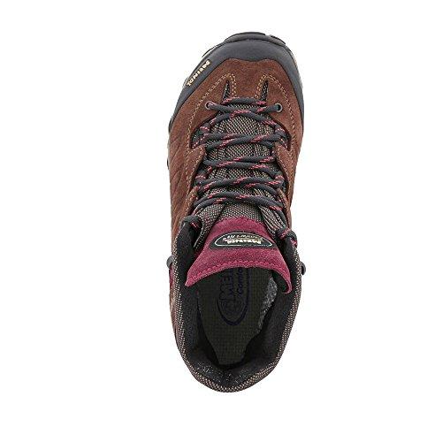 Chaussures Rouge Marron Femme De Randonnée Pour Meindl Montantes 5Sn404