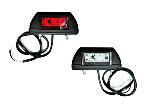 2x LED Umrissleuchte Begrenzungsleuchte Positionsleuchte 12-24V für LKW PKW Anhänger, Trailer, Wohnwagen usw.