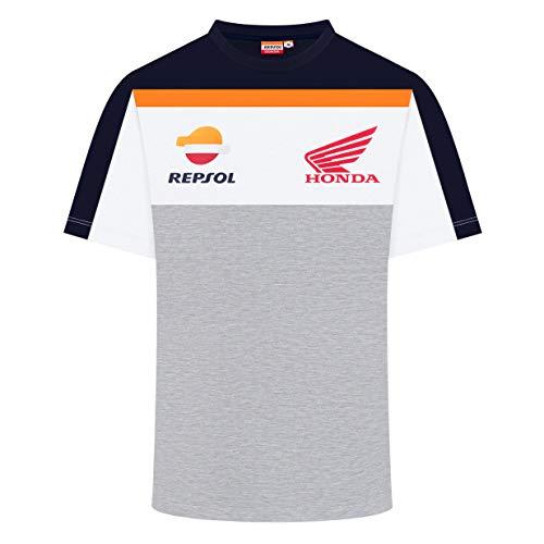 REPSOL RACING 2019 MotoGP - Maglietta da Uomo, 100% Cotone, Taglie S-XXL, Evelina, Mens (XXL) 120cm/47 inch Chest