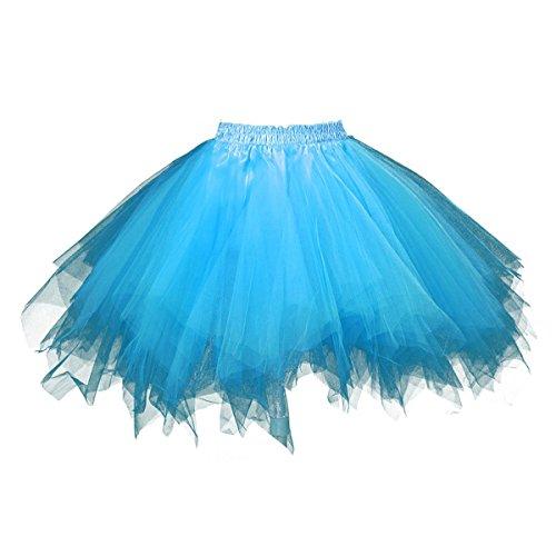 euheiten Tutu Unterkleid Rock Ballet Petticoat Abschlussball Tanz Party Tutu Rock Abend Gelegenheit Zubehör Himmelblau (Beste Halloween-party-essen Für Erwachsene)