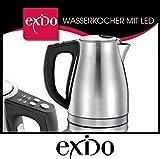 Exido 12130043 Edelstahl Design Wasserkocher 1