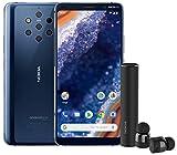 Nokia 9 PureView - Smartphone Débloqué 4G (Ecran : 6 pouces - 128Go ROM - 6Go RAM - Dual SIM ou Nano + MicroSD - Android One Pie 9.0) Bleu + Nokia EarBuds offerts