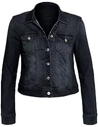 Frauen Jeansjacke lange Ärmel plus Größen klassischer Schnitt Knopfleiste