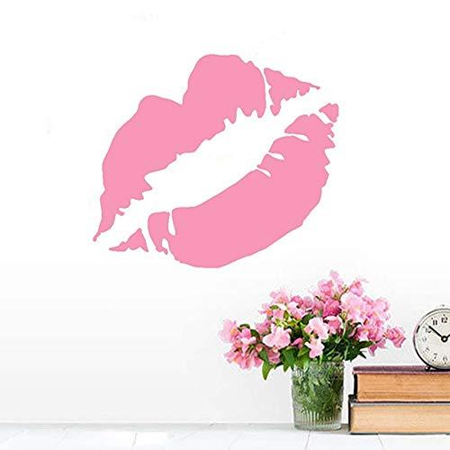 ZMYZ Etiqueta pared Pegatinas Lady Red Kiss Lip Pattern