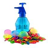 K7plus® Wasserbomben Pumpe mit 200 Wasserballons - Einfüllhilfe für Wasserbomben - 1