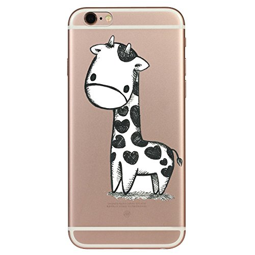 IPHONE 6s Hülle Traumfänger Ballon Karikatur Panda TPU Silikon Schutzhülle Handyhülle Case - Klar Transparent Durchsichtig Clear Case für iPhone 6/6s Giraffe