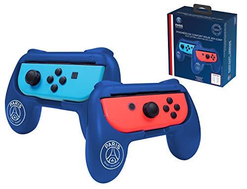 Pack de 2 poignées de confort ergonomiques pour manette Joy Con Nintendo Switch - Droit/Gauche - PSG Paris Saint Germain