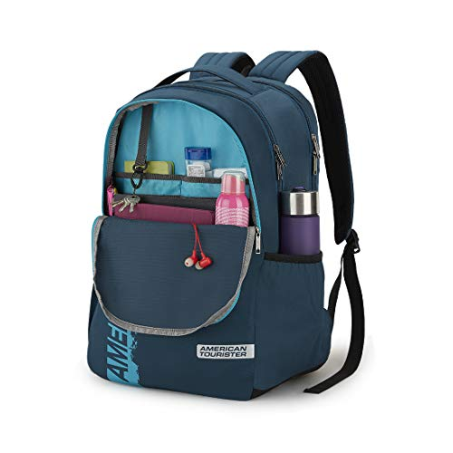 American Tourister Spin 29 Ltrs Teal Laptop Backpack (FS0 (0) 11 001) Image 4