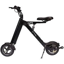 Bicicleta EléCtrica PortáTil Plegable,Bici Plegable Scooter,Rango De 30-35 Km,36V 250W,Adecuado para Viajes Cortos, Escuelas, Desplazamientos Al Trabajo, Evitando Atascos De TráFico,Black