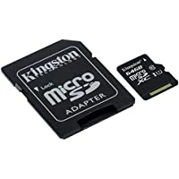 Kingston SDCS/64GB - MicroSD Canvas Select 64 GB, velocidades de UHS-I Clase 10 de hasta 80 MB/s Lectura (con Adaptador SD)