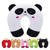 Cuscino da Viaggio per Bambini HOMEWINS Cuscino Cervicale Ultra Morbido Cuscino Cervicale Animali per Dolori Cervicali Sonno per Seggiolino Auto RAV Aereo (Panda)