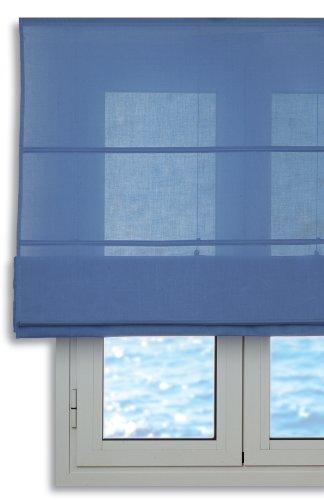 Estor plegable con varillas 150x175cm - Color Azul