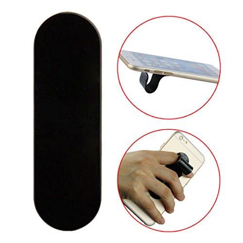 Ring Phone Support, Asnlove Universalle Handyhalterung Hanyhalter Finger Griff dippel Ring Ständer Aufkleber für iPhone 5S, 5C, 5, 4S, 4, 3GS, iPod, Samsung Galaxy S4, S3, S2, S Phone, HTC und viele mehr-Schwarz (S2-diamant-ring)