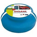 ALCLEAR 5713050M Profi Handpolierschwamm 130 x 50 mm mit umlaufender Griffleiste für Wachse, Polituren, Lackreiniger, blau