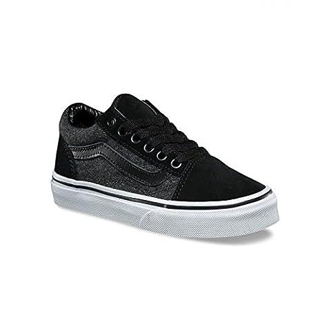 Chaussures Vans Y Old Skool - Suede Suiting Black-Noir