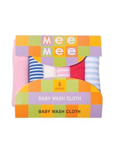 Mee Mee Baby Wash Cloth Napkins (Stripes Multi)