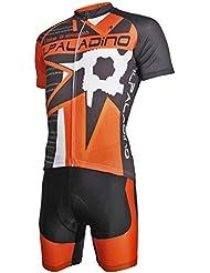 Maillot de cyclisme avec pantalons courts en polyester Tissu en polyester Anti -UV Quick Dry respirant Maillot manches courtes à manches courtes Pantalons courts Costumes pour vélos