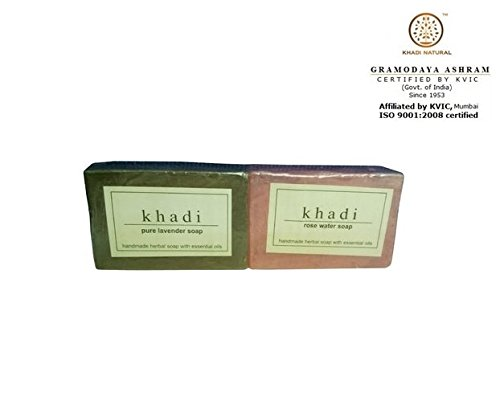 Khadi Pure Lavender Soap and Glycerine Rose Water Soap, 125g (Pack of 2)  available at amazon for Rs.3599