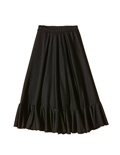 Dance Falda 4 Talla Para De Color Niñas Happy Ef008 Flamenco Negro 4BEv4dx
