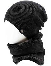 YiWu Hombres Gorro De Lana De Punto Sombrero Frío Otoño E Invierno Inglaterra Moda Calle Gorra