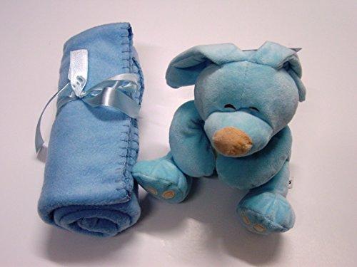 bebesitos Cielo Blu Fleece coperta e giocattolo, 100% poliestere