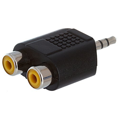 SODIAL(WZ.) 3.5mm Stereo-Stecker auf Dual-RCA Buchse Adapter ADPT