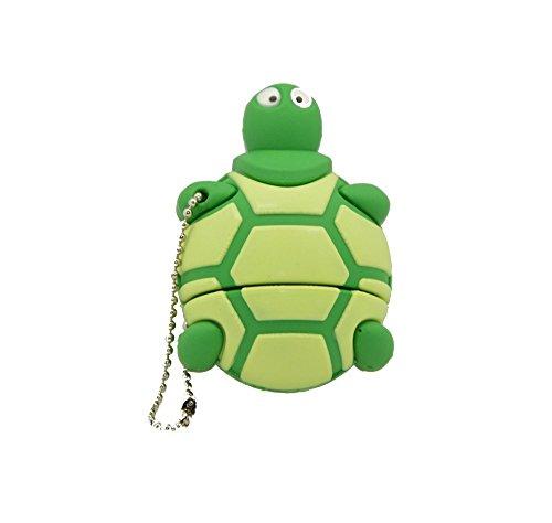Febniscte 16gb pen drive tartaruga verde stile chiave usb 2.0