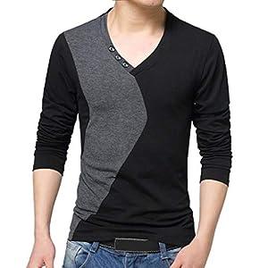 Oasics T-Shirt Top Herren Stehkragen Herren Langarm-Normallackhemd M-4XL