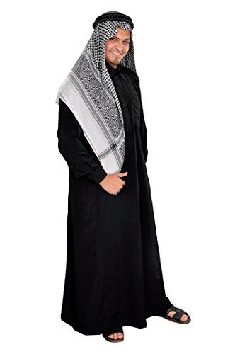 Egypt Bazar Dreiteiliges Araber Scheich Kostüm Scheichkostüm, Karnevalskostüm - Faschingskostüm, schwarz ()