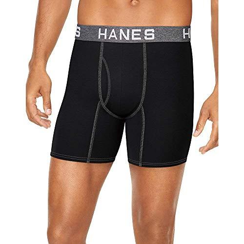 Modal Boxer Briefs (Hanes Ultimate Men's Comfort Flex Fit Ultra Soft Cotton/Modal Boxer Briefs 4-Pack)