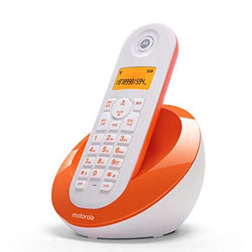 HQCC Teléfono inalámbrico Digital, teléfono Fijo, máquina única, para el hogar de la Oficina, Negro, púrpura (Color : Orange)